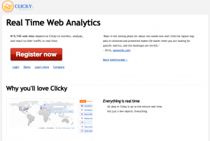 CLICKY - REAL TIME WEB ANALYTICS 1