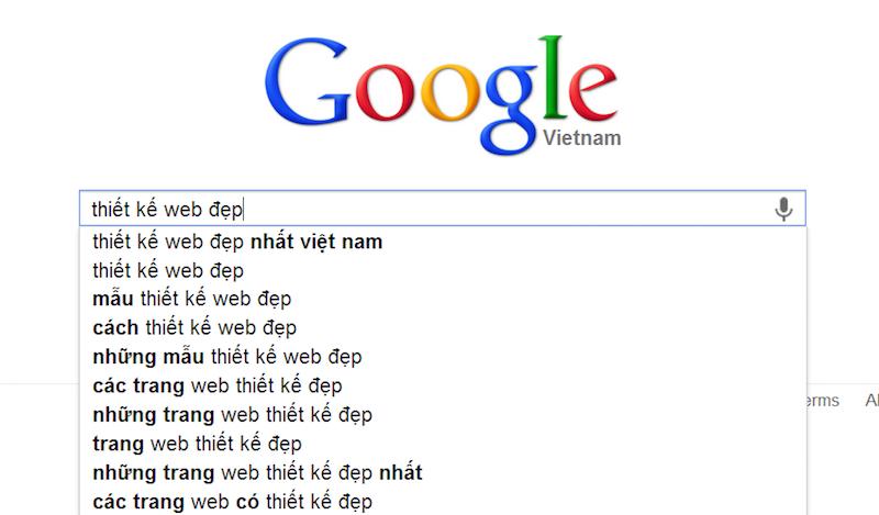 Cách google gợi ý từ khoá liên quan