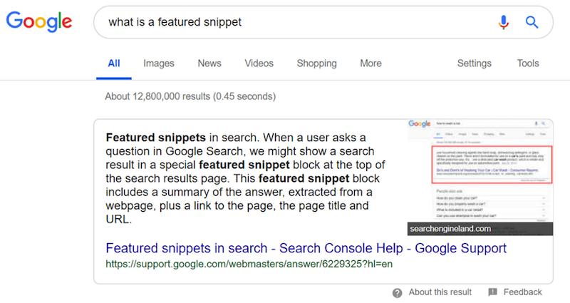 Featured Snippets - đoạn trích nổi bật, một trong những thành công mà bất kỳ ai làm SEO đều muốn từ khóa trên website của mình đạt được
