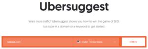 Ubersuggest sẽ cho bạn thấy những từ khóa của đối thủ
