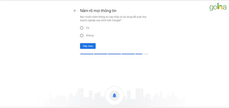 Đây là bước cuối cùng khi thiết lập Google My Business
