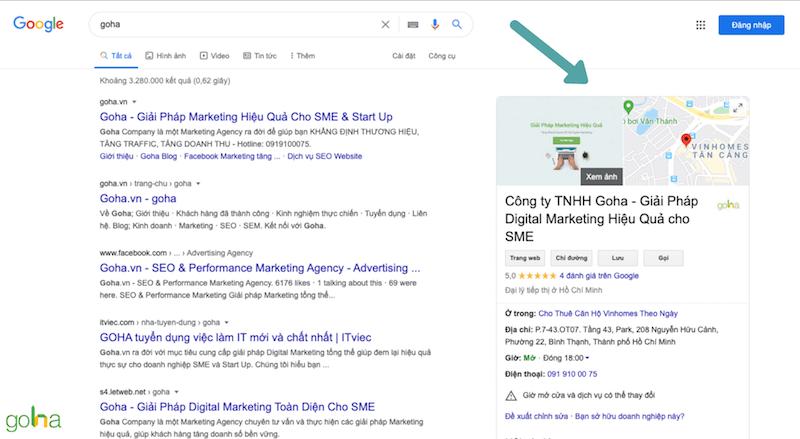 Google My Business của Goha