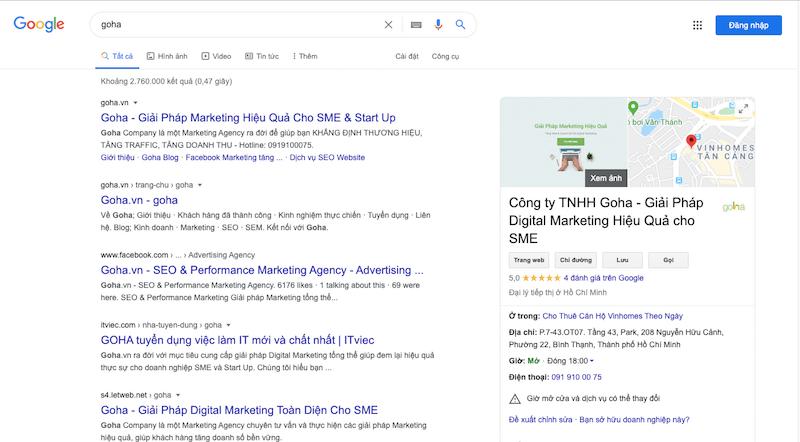 Sử dụng Google My Business cũng giúp doanh nghiệp cải thiện SEO