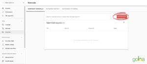 Bạn có thể chọn New Request và điền URL cần xóa là được
