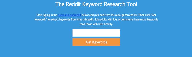 Chỉ cần nhập một từ khóa, Keyworddit sẽ cho bạn một danh sách lên đến 500 từ khóa liên quan