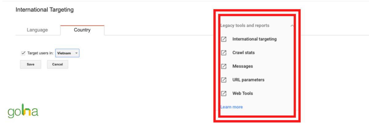 Chỉ với một vài thao tác đơn giản là bạn đã có thể cài đặt Target Country trên Google Search Console