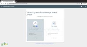 Để đăng ký sử dụng Google Search Console, bạn cần điền chính xác link website của mình