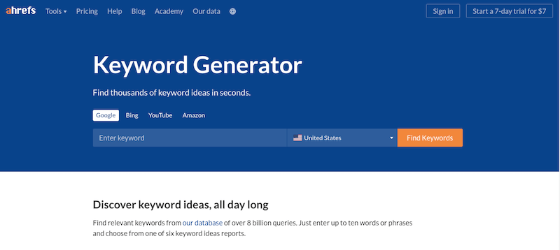 Keyword Generator cung cấp dữ liệu các câu hỏi liên quan đến từ khóa bạn vừa tìm kiếm