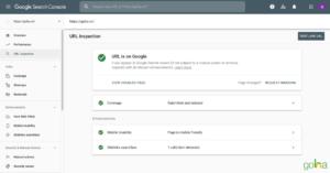 Mục URL inspection giúp bạn kiểm tra sức khỏe của một URL cụ thể
