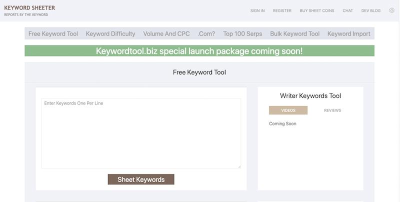 Trong danh sách các công cụ hỗ trợ phân tích từ khóa, không thể nào bỏ qua Keyword Sheeter
