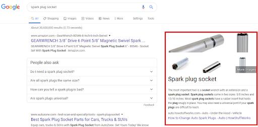 Google đã cập nhật Featured Snippet ở bên phải trang kết quả tìm kiếm