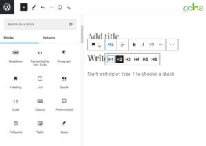 Bạn có thể dễ dàng điều chỉnh thẻ Heading trên nền tảng WordPress