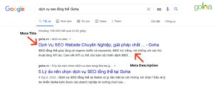 Tối ưu meta title và meta description giúp tăng traffic cho website