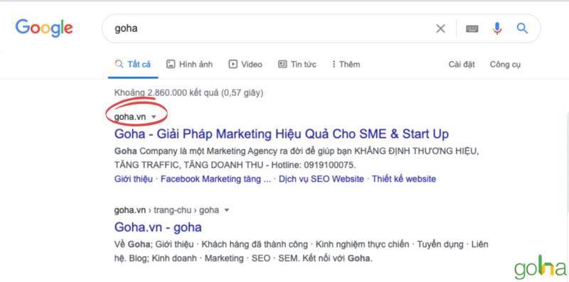 URL nên càng ngắn gọn càng tốt