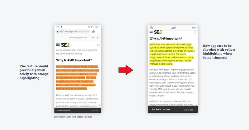 Với TargetText, khi bạn click vào trang web được hiển thị trên Featured Snippet, bạn sẽ thấy một đoạn văn bản được đánh dấu bằng nền màu vàng.